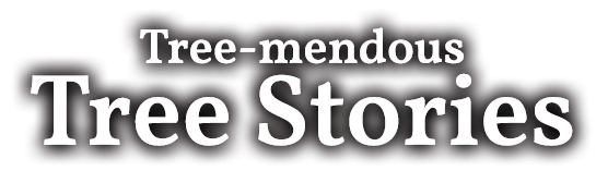 Tree-mendous Tree Stories text logo